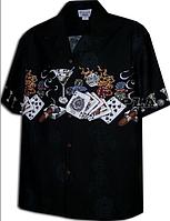 Рубашка гавайка Pacific Legend 440-3698 black
