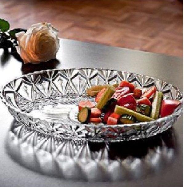 Блюдо Овальное Хрусталин 30*20 см ВМ1078