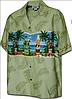 Рубашка гавайка Pacific Legend 440-3581 sage
