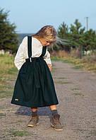 Юбка для девочки на шлейках