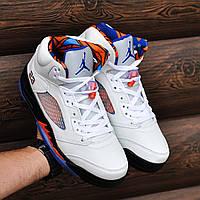Кроссовки в стиле Nike Air Jordan 5 White (Реплика ААА+)