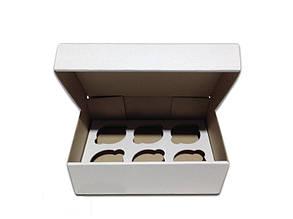Коробка для капкейков, кексов и маффинов 6 шт 247*170*80