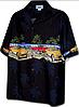 Рубашка гавайка Pacific Legend 440-3593 black