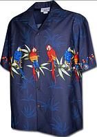 Рубашка гавайка Pacific Legend 440-3636 navy