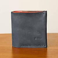 66e9e44c762e Мужской кошелек черный из натуральной кожи ручной работы Revier для денег
