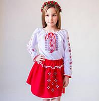 Вишиванка вишитий костюм Український червоний 4-5 23f49ac93aed6