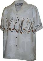 Рубашка гавайка Pacific Legend 440-3648 white