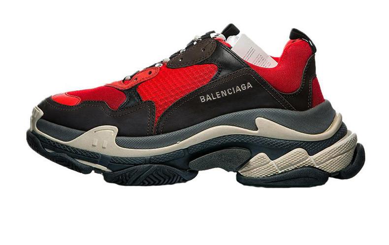 Мужские кроссовки Balenciaga Triple S Red/Black