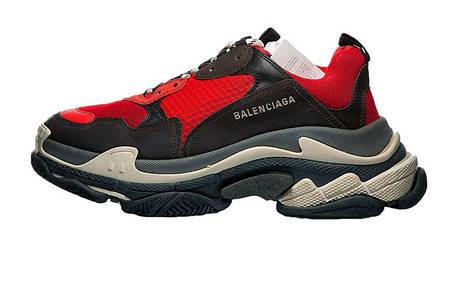 Мужские кроссовки Balenciaga Triple S Red/Black, фото 2