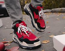 Мужские кроссовки Balenciaga Triple S Red/Black, фото 3