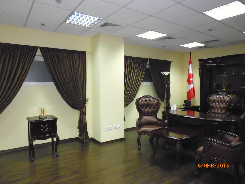 Шторы на подхвате в кабинет. Киев
