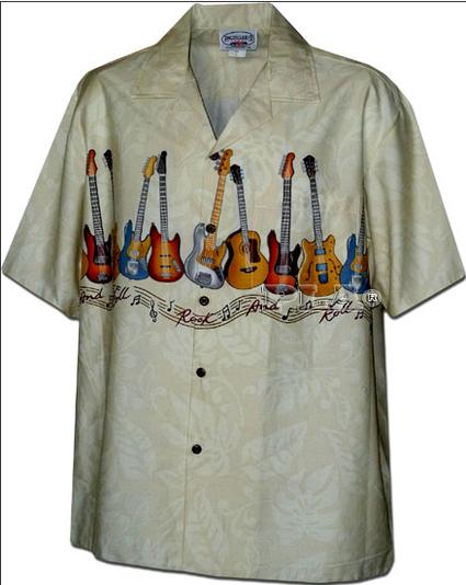 Рубашка гавайка Pacific Legend 440-3717 khaki
