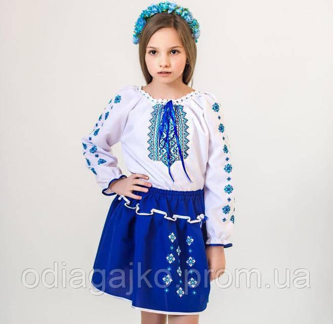 Вишиванка вишитий костюм Український синій 4-5 b5ca54a6fde5b