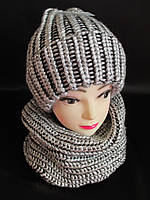 Женские красивые шапка с хомутом на зиму.