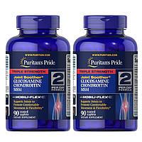 Хондропротектор Puritans Pride Glucosamine Chondroitin MSM Triple Strength, 90 tabl