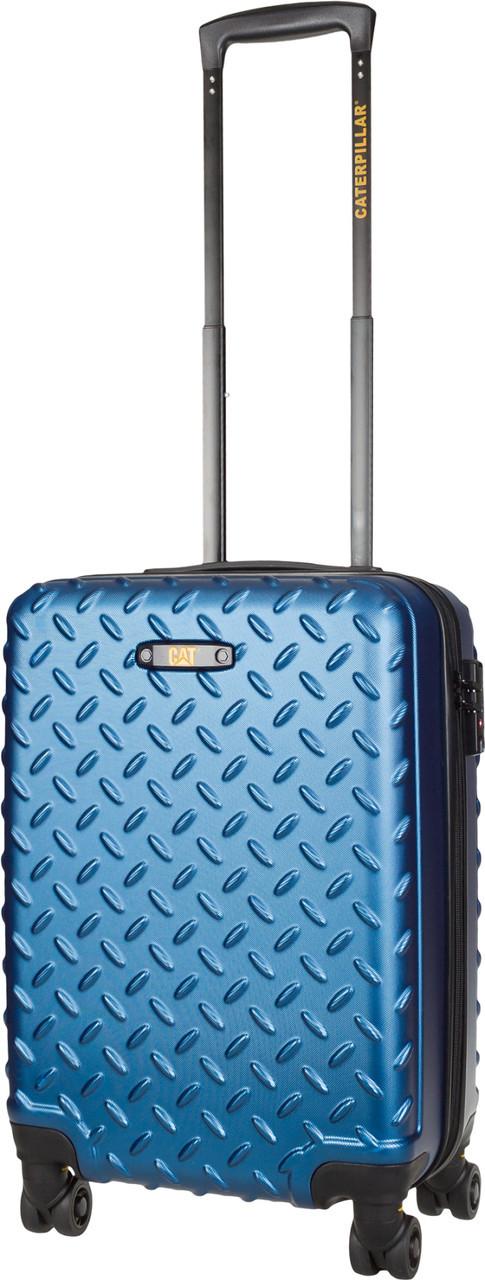Чемодан CAT Industrial Plate 83552;177 голубой ручная кладь