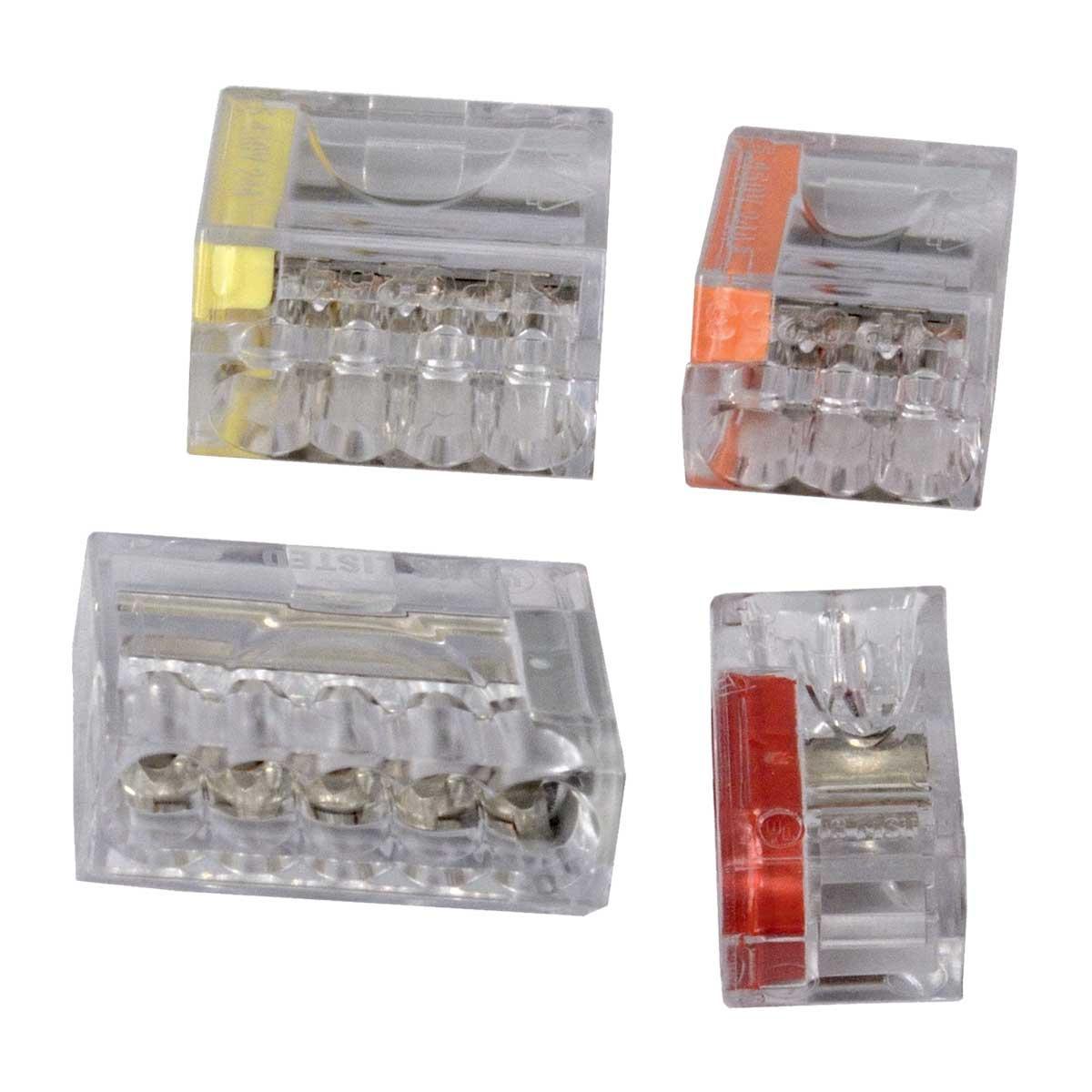 Клемник безгвинтовий; 5х2,5мм; РА; сірий; напруга до 400 V; січення кабелю до 2,5мм; ток до 16А; 2,5х9,5х9,5