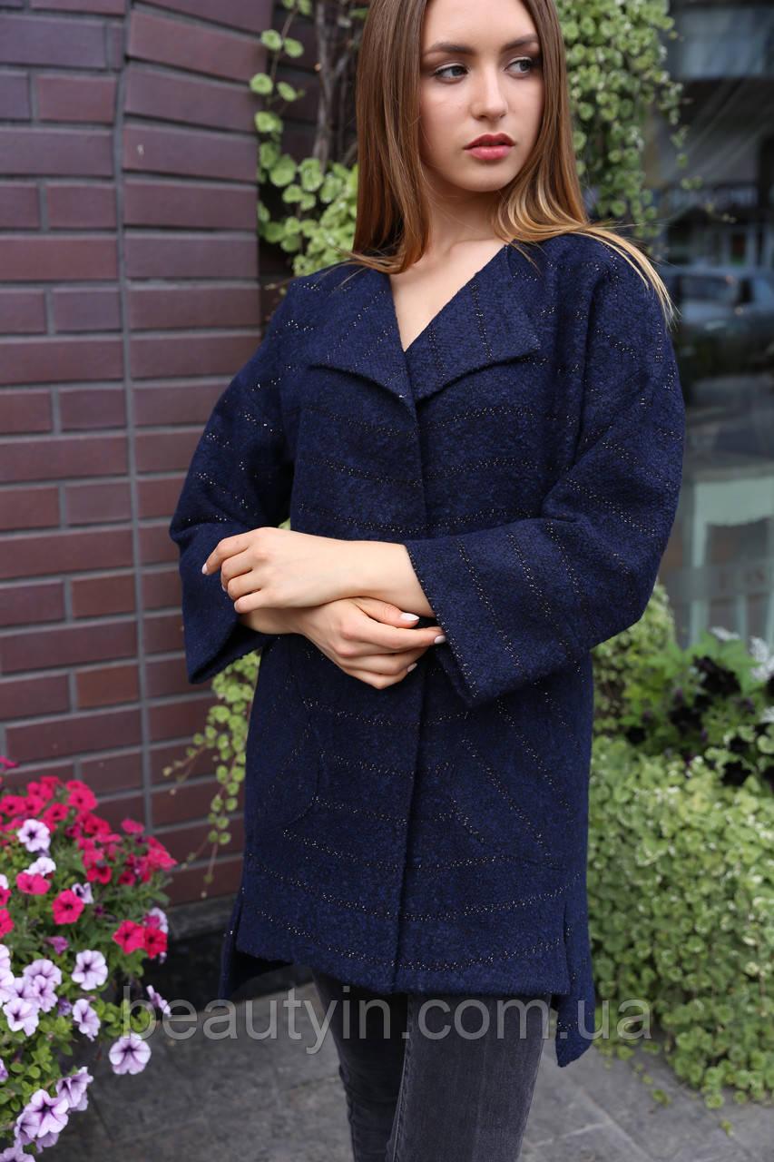 Пальто Эвелина - Т.синий №7