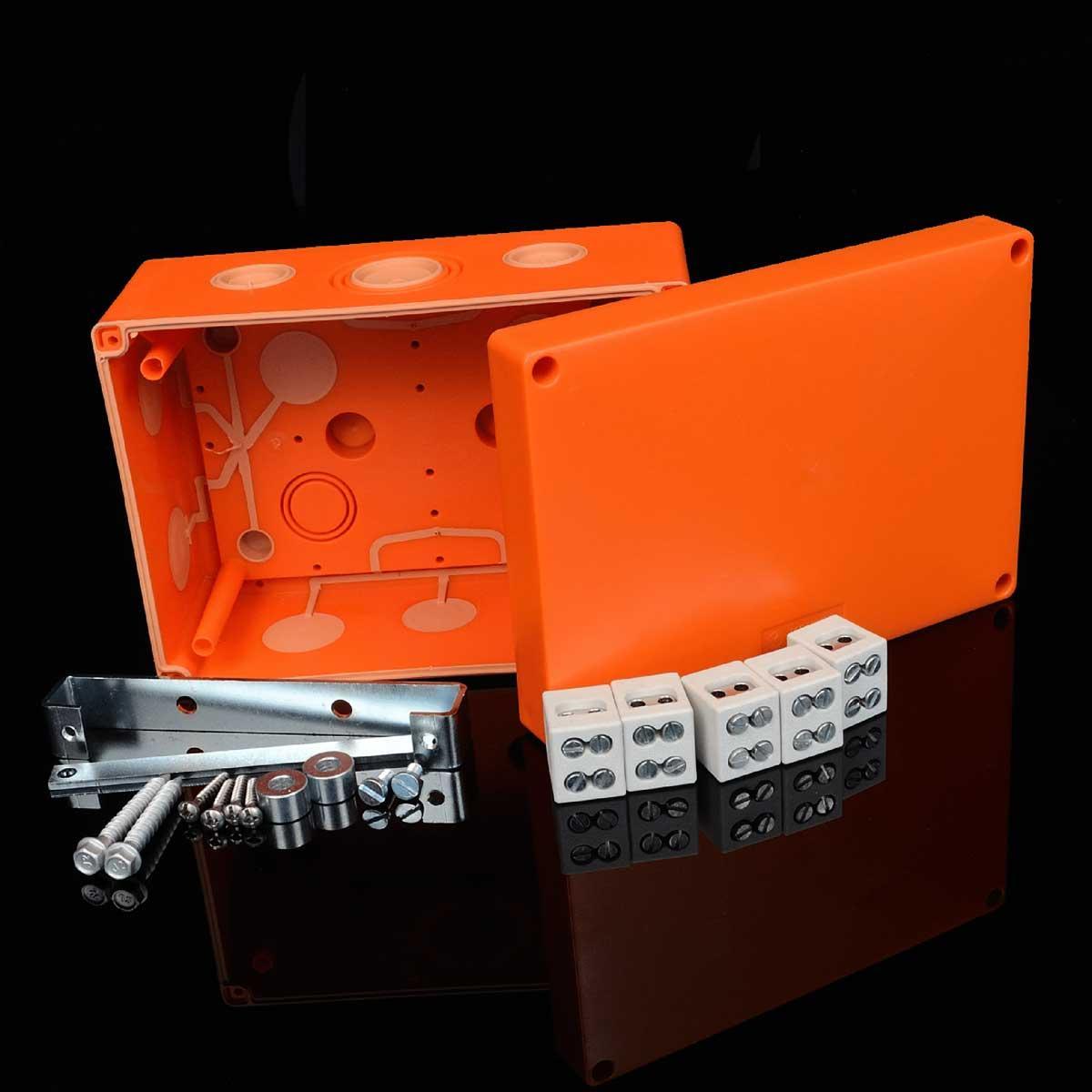 Коробка вогнестійка IP 66,   керамічна клема 5х10мм; клас Е90; розміри 176х126х87мм