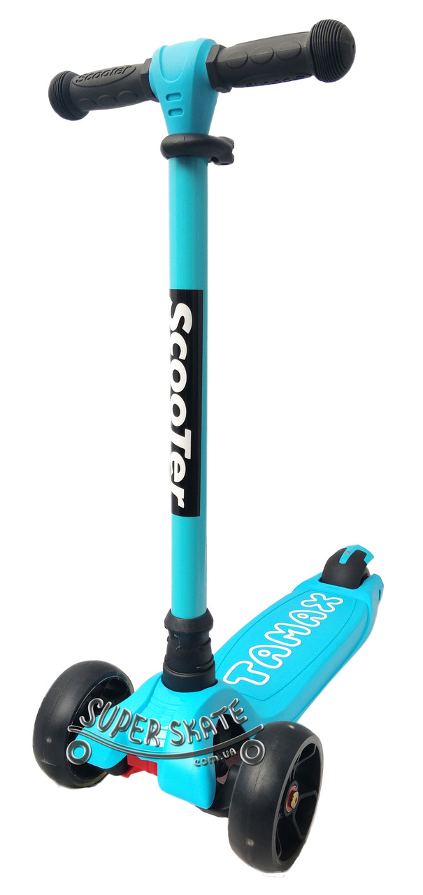 Трехколесный самокат детский Scooter Tamax - Голубой