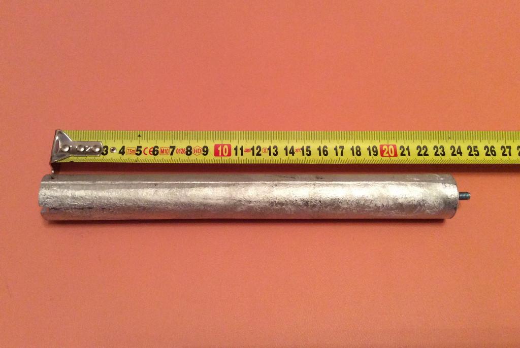 Анод магниевый Италия  Ø26мм / L=230мм / резьба M5*10мм   оригинал