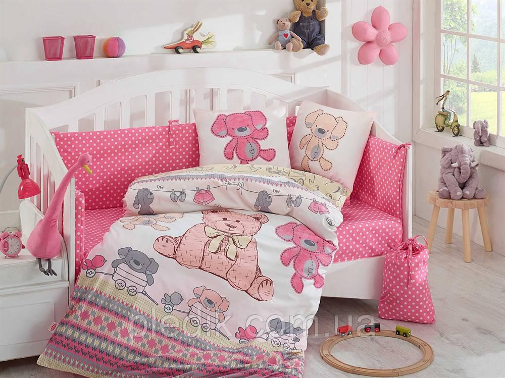 Постельное белье в кроватку HOBBY Baby Tombik розовый