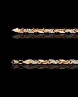 Золотой браслет Роликсы 31