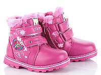 Зимние тёплые ботинки девочкам, р. 25, стелька 15,7 см