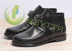 Кожаные женские ботинки арт 0590 ч/к размеры 36,39,40,41