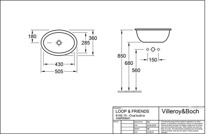 Раковина Villeroy&Boch Loop&Friends, фото 2