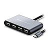 USB HUB Type-C Hoco HB3 4USB Gray