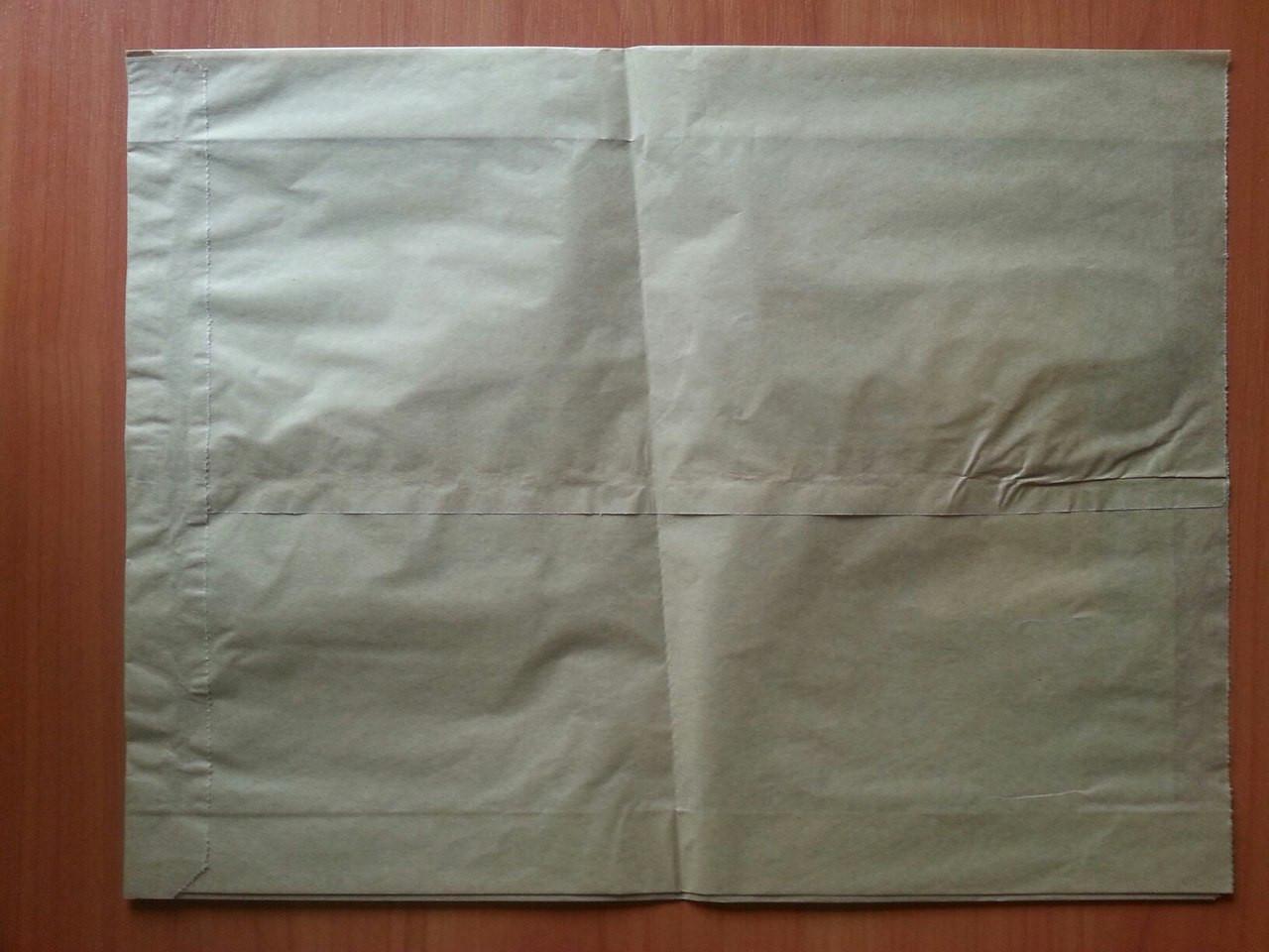 Бумажный пакет саше бурый 330х250х60 (753)