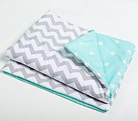Детский утепленный плед на слимтексе, размер 80*80 «Наш малыш» пледик в кроватку, одеяло покрывало