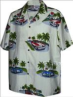 Рубашка гавайка Pacific Legend 442-3656 cream
