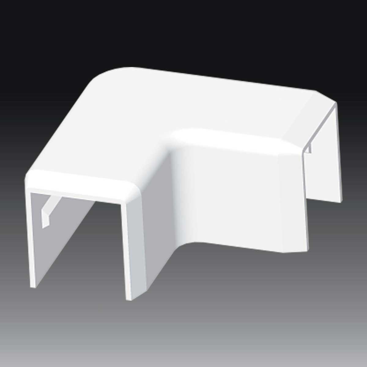 Кут прямий  для LHD 20х20 білого кольору; Серія LHD; ПВХ
