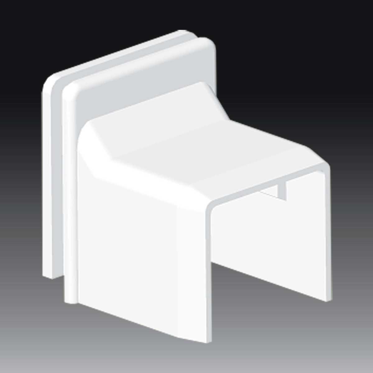 З'єднувач перехідний для коробки LK 80x28 білого кольору; Серія LHD; ПВХ