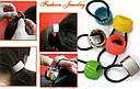 Резинка для волос с пластиковым кольцом черная, фото 4
