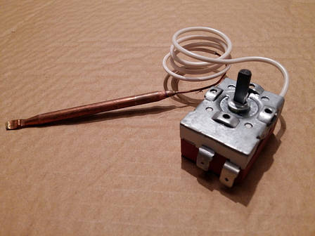 Термостат капиллярный механический MMG / Tmax = 80°С / 20A / H стержня = 16 мм (2 контакта)    Венгрия, фото 2