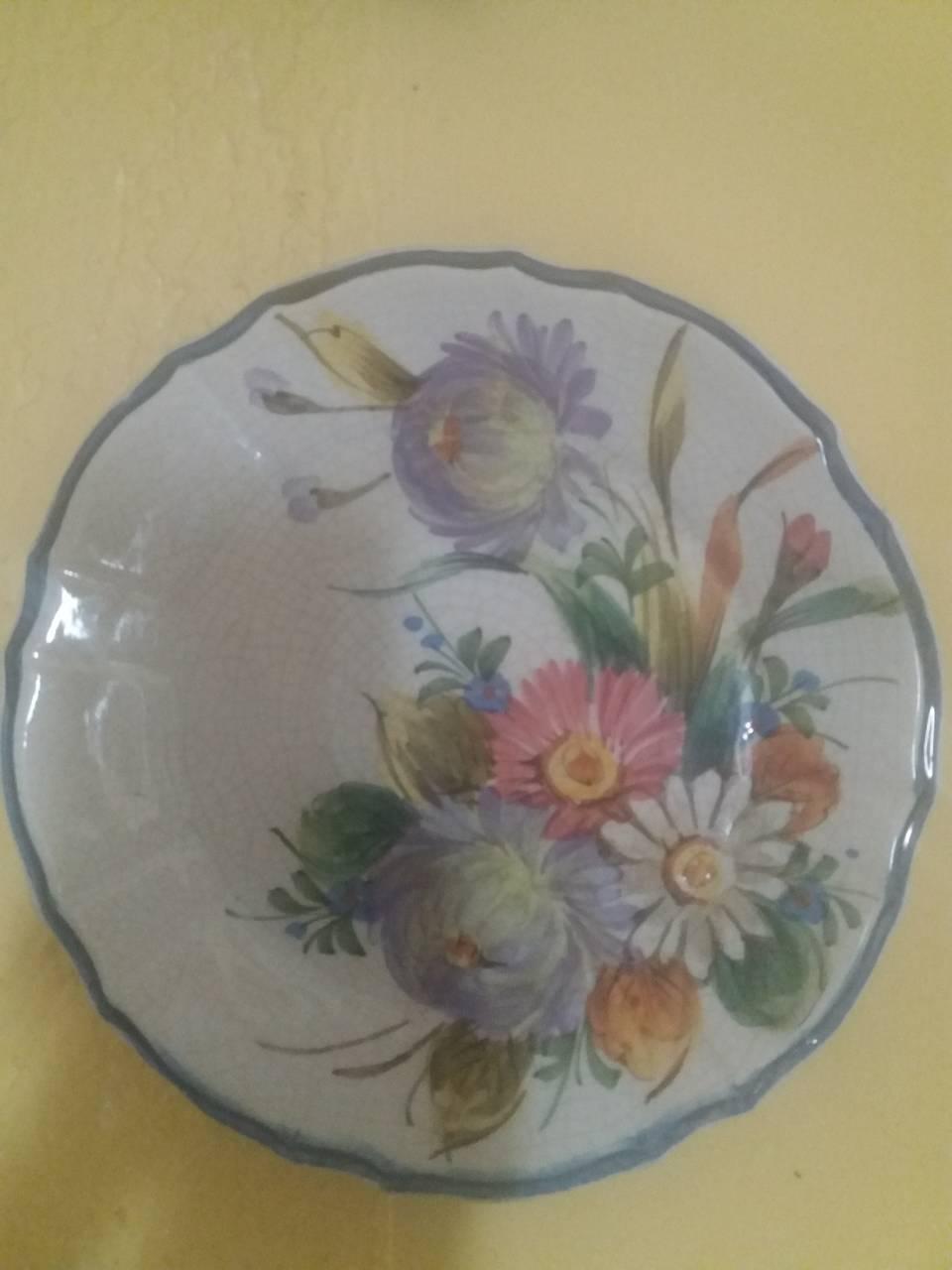 Настенная фарфоровая тарелка ручной раб-Прованс /Франция/