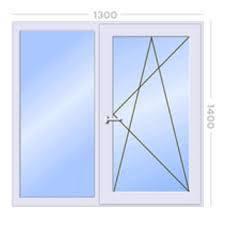 Вікно металопластикове (1300х1400) Steko. Гарантія 10 років ДОСТАВКА ПО УКРАЇНІ БЕЗКОШТОВНО!