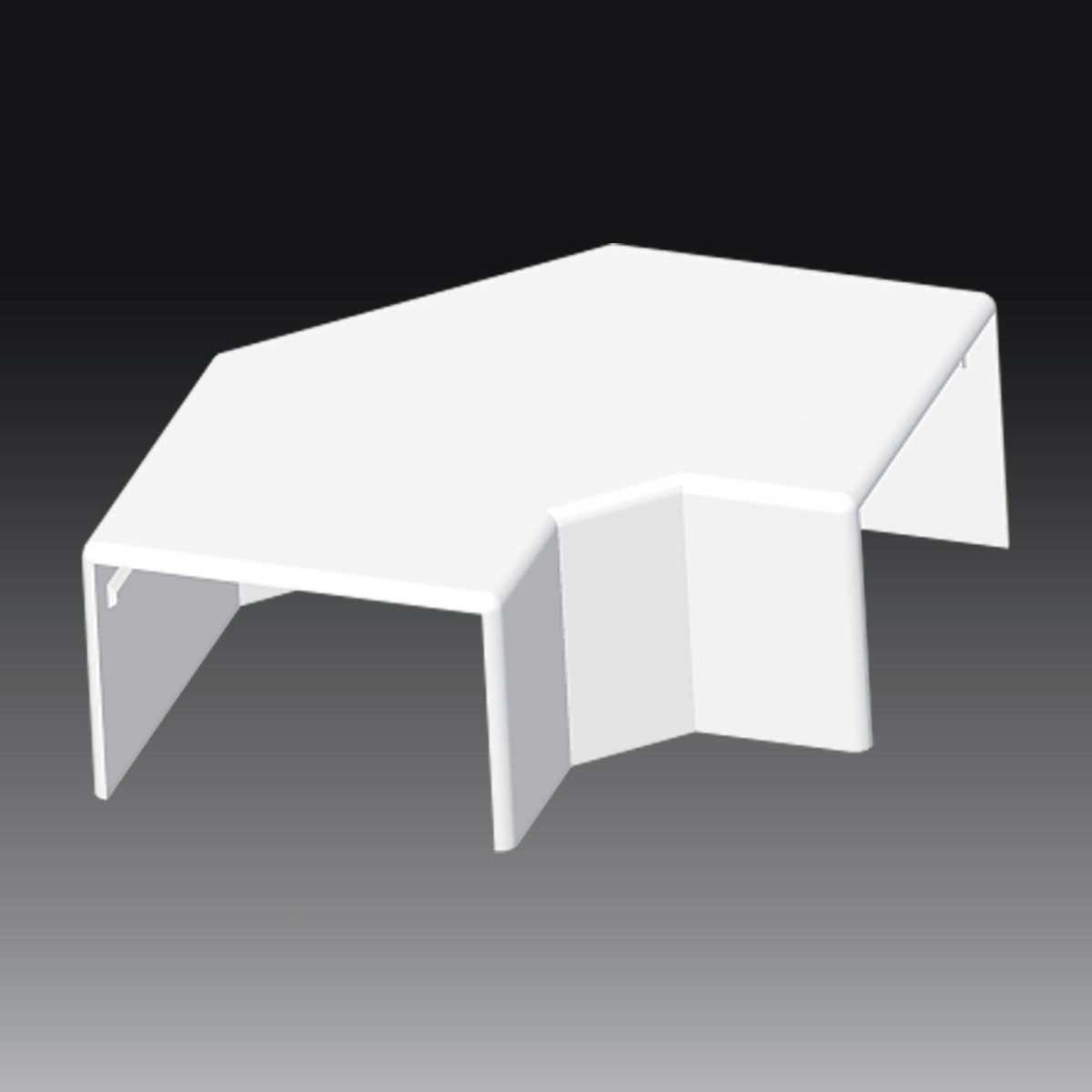 Кут прямий для LH 60x40 білого кольору; Серія LH; ПВХ