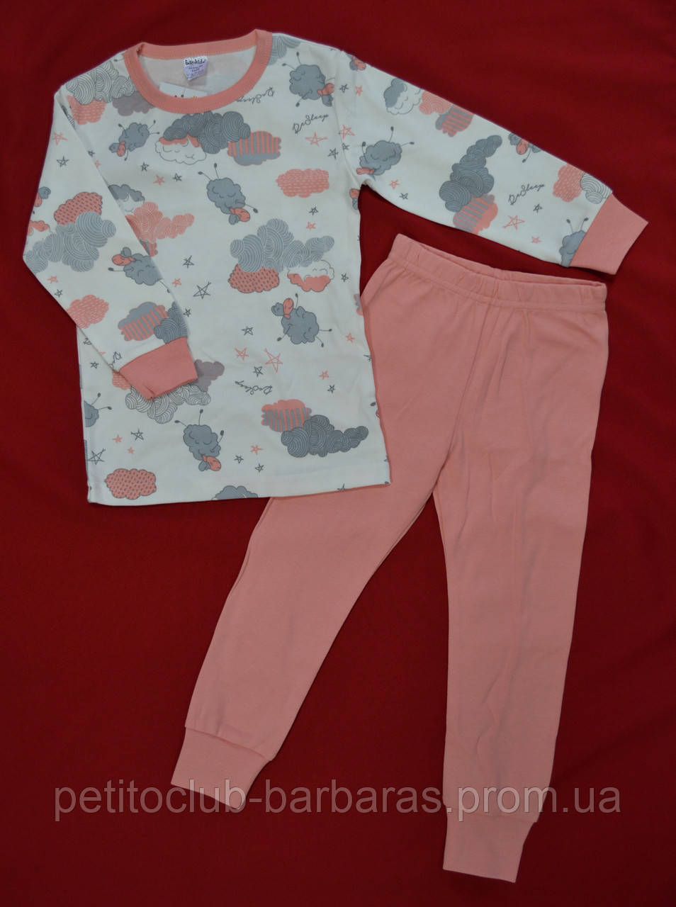 "Пижама для девочки ""Овечки"" интерлок (Интеркидс, Украина)"