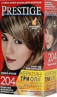 Стойкая крем-краска для волос Vip's Prestige тон 204 Темно Русый