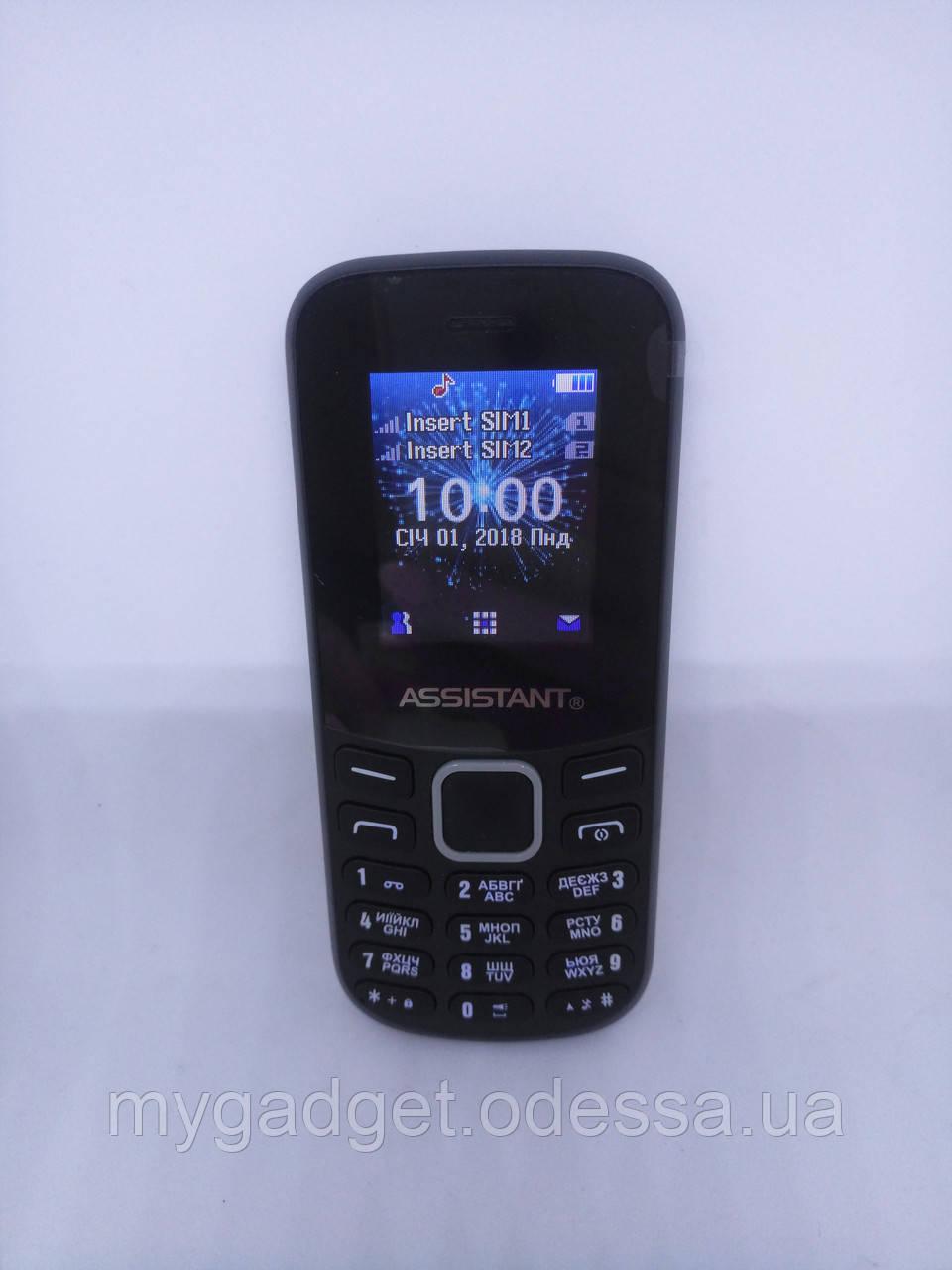 Кнопочный телефон Assistant AS-101 Black + Камера + Bluetooth + 900 мАч Гарантия!