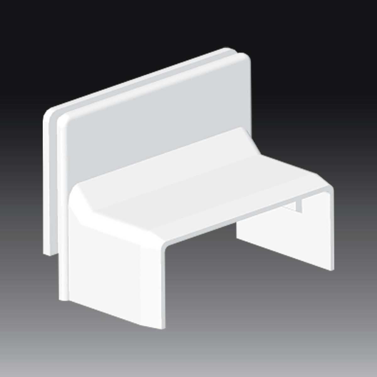 Перехідник посилений на коробку LK 80x16 білого кольору; Серія LV; ПВХ