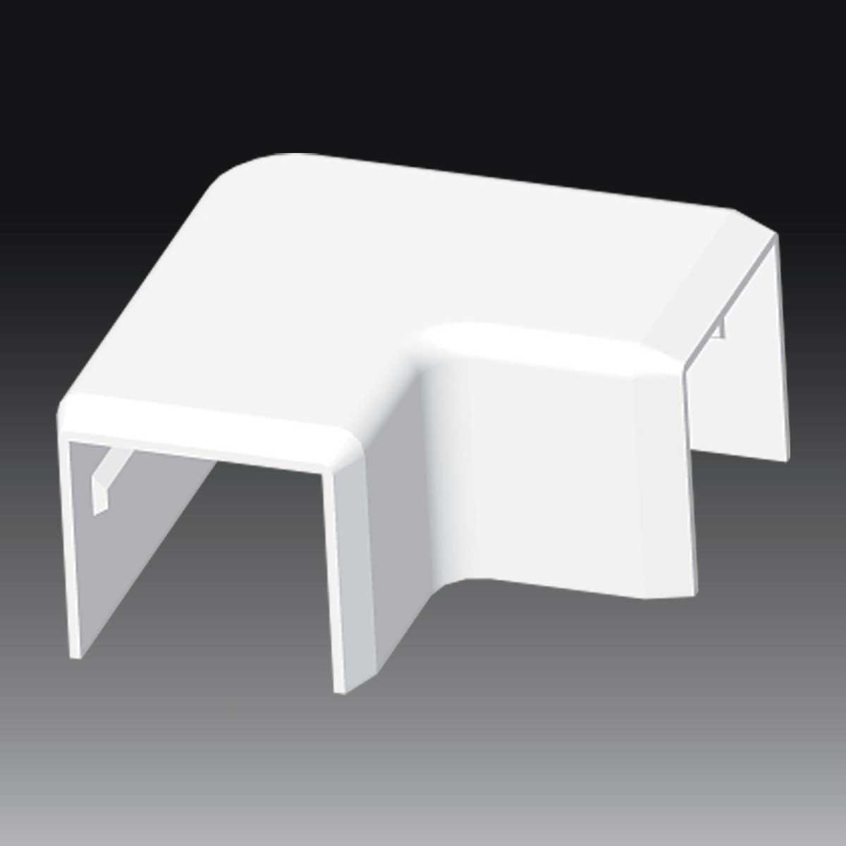 Кут прямий для LV 24х22 білого кольору; Серія LV; ПВХ