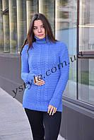 Теплый женский свитер, фиалка, фото 1