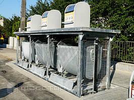 Оцинкованное исполнение контейнеров и подъемных платформ.