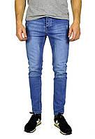 Голубые мужские джинсы зауженные ARMANI JEANS, фото 1