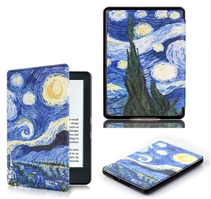 "Обложка - чехол для электронной книги Amazon Kindle Paperwhite 1, 2 E-reader 6"" Van Gogh"